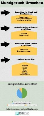 Mundgeruch Ursachen Infografik