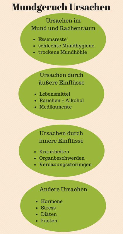 Mundegruch Ursachen Kategorien
